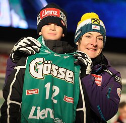 27.12.2011, Hauptplatz, Lienz, AUT, Sideevent zum Ski Weltcup in Lienz am Hauptplatz mit Startnummernauslosung, Auftritt Soundicious und Wahl Skiworldcupgirl 2011, im Bild Kathrin Zettel AUT // Sideevent of Skiworldcup of the Ladies with drawing the startnumbers and performance of soundicious and election of the skiworldcupgirl 2011, Lienz, 27-12-2011, EXPA Pictures © 2011, PhotoCredit: EXPA/ M. Gruber