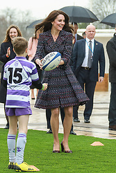 Catherine ( Kate Middleton ), Duchess of Cambridge and Prince William, Duke of Cambridge visit a 'Les Voisins in Action' event highlighting the strong ties between the young people of France and the UK at the Trocadero in front of the Eiffel tower during an official two-day visit to Paris on March 18, 2017 in Paris, France. Their Royal Highnesses met local school children and students from the British Council's Somme project and young learners programmes, as well as young French rugby fans ahead of the RBS Six Nations match that afternoon. Photo by Pool/ABACAPRESS.COM