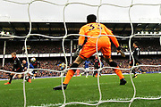 Everton striker Wayne Rooney (10) scores with a long range effort 1-0 during the Premier League match between Everton and Arsenal at Goodison Park, Liverpool, England on 22 October 2017. Photo by Craig Galloway.