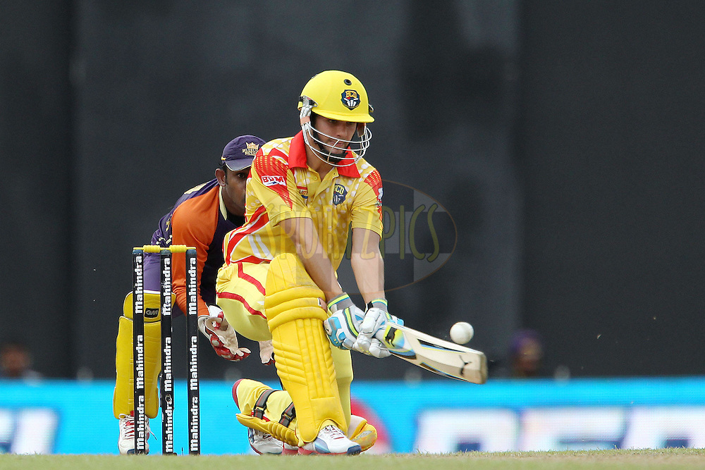 Rilee Rossouw plays a reverse shot during match 17 of the Sri Lankan Premier League between Basnahira Cricket Dundee and Ruhuna Royals held at the Premadasa Stadium in Colombo, Sri Lanka on the 25th August 2012. .Photo by Ron Gaunt/SPORTZPICS/SLPL