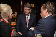 AMANDA ELIASCH; PETER MANDELSON; GEORDIE GREIG, Ralph Lauren host launch party for Nicky Haslam's book ' A Designer's Life' published by Jacqui Small. Ralph Lauren, 1 Bond St. London. 19 November 2014