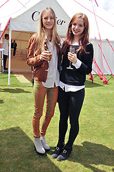 Left to right, OLYMPIA CAMPBELL and LARA SKEET at the Cartier Queen's Cup Polo Final, Guards Polo Club, Windsor Great Park, Berkshire, on 17th June 2012.