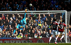 Thomas Heaton of Burnley dives as the ball goes over his crossbar - Mandatory by-line: Robbie Stephenson/JMP - 23/04/2017 - FOOTBALL - Turf Moor - Burnley, England - Burnley v Manchester United - Premier League