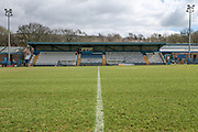 General view of the stadium before the Kingstone Press Championship match between Oldham Roughyeds and Bradford Bulls at Bower Fold, Oldham, United Kingdom on 2 April 2017. Photo by Mark P Doherty.