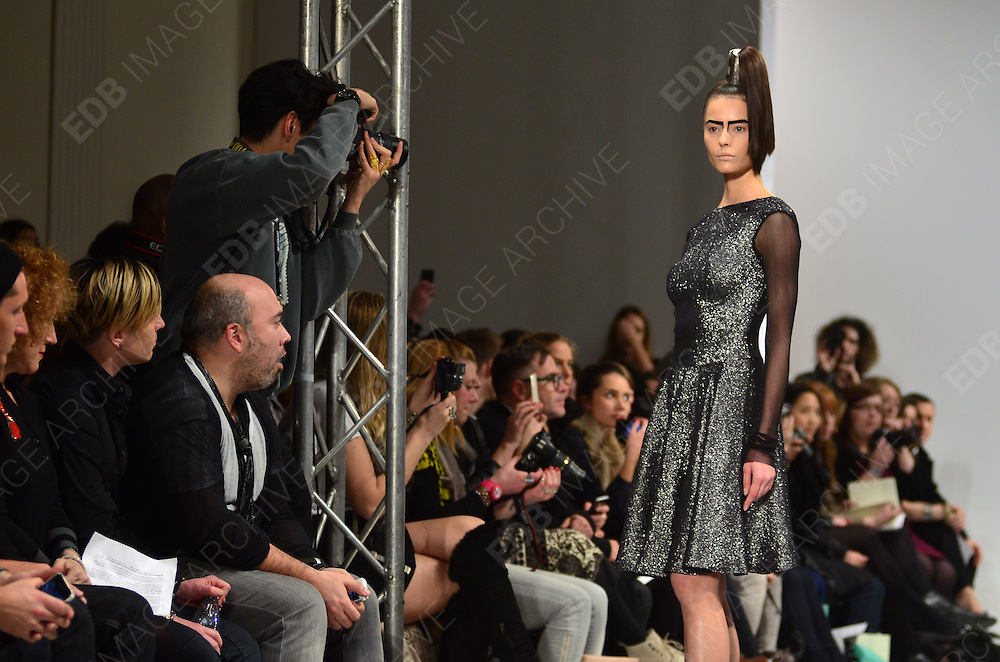 20.FEBRUARY.2012. LONDON<br /> <br /> LAKO BUKIA LFW SHOW<br /> <br /> BYLINE: EDBIMAGEARCHIVE.COM<br /> <br /> *THIS IMAGE IS STRICTLY FOR UK NEWSPAPERS AND MAGAZINES ONLY*<br /> *FOR WORLD WIDE SALES AND WEB USE PLEASE CONTACT EDBIMAGEARCHIVE - 0208 954 5968*