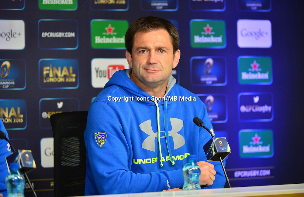 Franck AZEMA - 01.05.2015 - Conference de presse Clermont avant la finale - European Rugby Champions Cup -Twickenham -Londres<br /> Photo : David Winter / Icon Sport