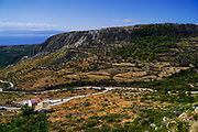 Farmland and landscape on Cephalonia Island, Greece