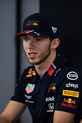 May 9, 2019 - Barcelona, BARCELONA, SPAIN - BARCELONA, CATALONIA, SPAIN 9 of May. Pierre Gasly driver of Red Bull during the official press conference before the Spanish GP at Circuit de Barcelona Catalunya (Credit Image: © AFP7 via ZUMA Wire)
