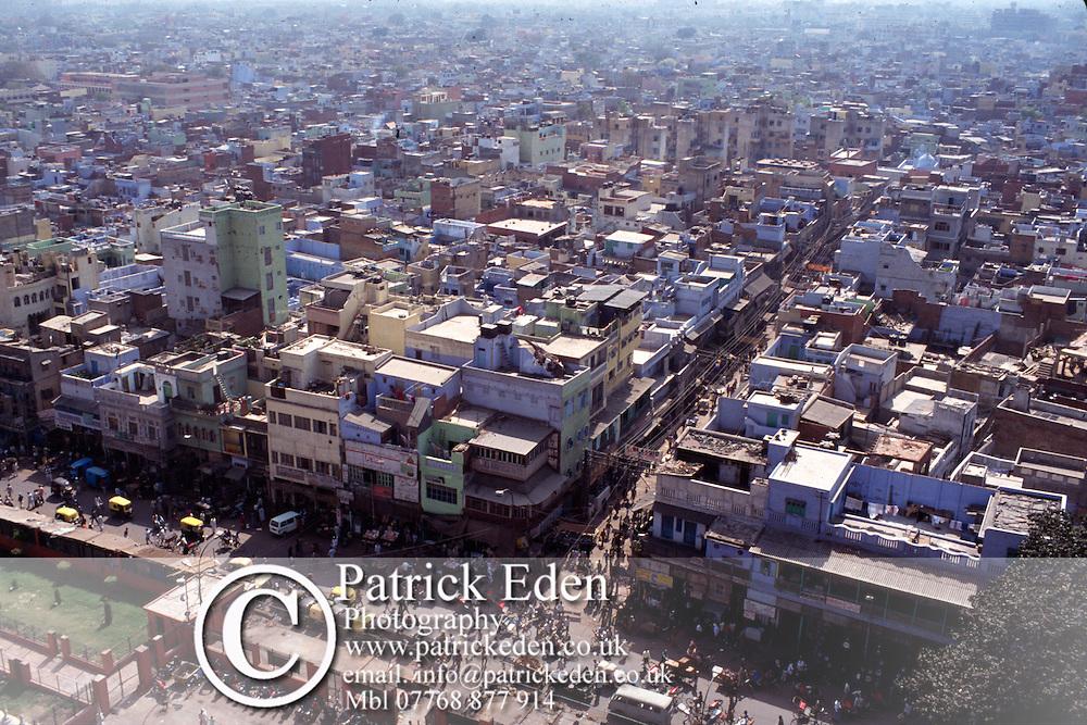 View from Jama Masjid Old Delhi India