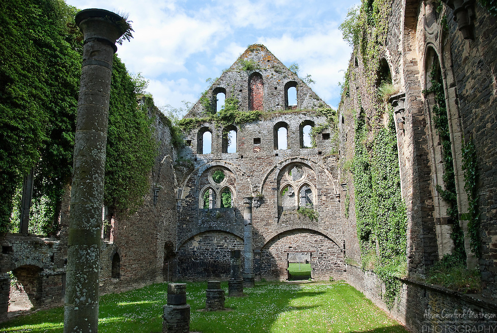 Ruins of the Abbey of Villers-la-Ville in Wallonia, Belgium