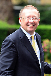 © Licensed to London News Pictures. 11/06/2013. Westminster, UK Alexander Vladimirovich Yakovenko the Russian Ambassador to the Untied Kingdom on Downing Street today 11th June 2013. Photo credit : Stephen Simpson/LNP