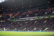 Celtic fans light up the stadium with mobile phones in the 67th minute of the match in a tribute to the 50th anniversary season of the club's European Cup win - Celtic v Dundee in the Ladbrokes Scottish Premiership at Celtic Park, Glasgow. Photo: David Young<br /> <br />  - © David Young - www.davidyoungphoto.co.uk - email: davidyoungphoto@gmail.com