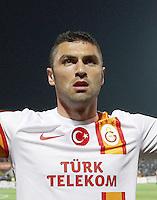 Turkey superleague match between Gaziantepspor and Galatasaray at Kamil Ocak Stadium in Gaziantep on 28.04.2013<br /> Match Scored. Gaziantepspor 0 - Galatasaray 1<br /> Pictured: Burak Yilmaz of Galatasaray.