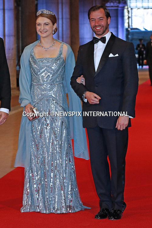 "PRINCE ALBERT OF MONACO WITH PRINCE GUILLAUME AND COUNTESS STEPHANIE OF LUXEMBOURG.attend the gala farewell dinner for Queen Beatrix at the Rijksmuseum in Amsterdam, The Netherlands_April 29, 2013..Crown Prince Willem-Alexander and Crown Princess Maxima will be proclaimed King and Queen  of The Netherlands on the abdication of Queen Beatrix on 30th April 2013..Mandatory Credit Photos: ©NEWSPIX INTERNATIONAL..**ALL FEES PAYABLE TO: ""NEWSPIX INTERNATIONAL""**..PHOTO CREDIT MANDATORY!!: NEWSPIX INTERNATIONAL(Failure to credit will incur a surcharge of 100% of reproduction fees)..IMMEDIATE CONFIRMATION OF USAGE REQUIRED:.Newspix International, 31 Chinnery Hill, Bishop's Stortford, ENGLAND CM23 3PS.Tel:+441279 324672  ; Fax: +441279656877.Mobile:  0777568 1153.e-mail: info@newspixinternational.co.uk"