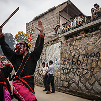 Guardian demons dance and twirl in Mazu's parade. <br />