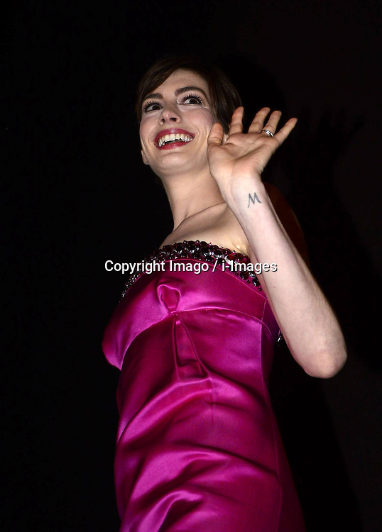 Actress Anne Hathaway attends the 'Les Miserables' Paris Premiere as part of Avenue Du Cinema Festival at Cinema Gaumont Marignan, Paris, France, February 6, 2013. Photo by Imago / i-Images...UK ONLY
