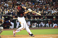 PHOENIX, AZ - MAY 28:  Paul Goldschmidt #44 of the Arizona Diamondbacks hits a two run home run against the San Diego Padres in the second inning at Chase Field on May 28, 2016 in Phoenix, Arizona.  (Photo by Jennifer Stewart/Getty Images)