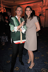 Left to right, ANNOUSHKA AYTON and LADY PINSENT wife of Sir Matthew Pinsent at the 38th Veuve Clicquot Business Woman Award held at Claridge's, Brook Street, London W1 on 28th March 2011.