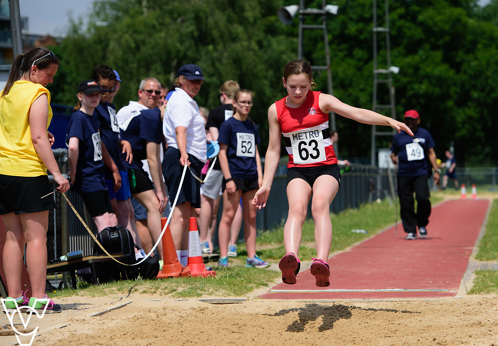 Metro Blind Sport's 2017 Athletics Open held at Mile End Stadium.  Long jump.  Katie Crowhurst<br /> <br /> Picture: Chris Vaughan Photography for Metro Blind Sport<br /> Date: June 17, 2017