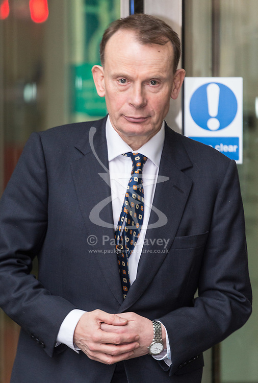 London, December 10 2017. \The BBC's Andrew Marr at the BBC's Broadcasting House in London after recording the Andrew Marr Show. © Paul Davey
