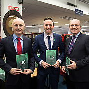 08/12/2015                <br /> Limerick City & County Council launches Ireland 2016 Centenary Programme<br /> <br /> An extensive programme of events across the seven programme strands of the Ireland 2016 Centenary Programme was launched at the Granary Library, Michael Street, Limerick, last night (Monday, 7 December 2015) by Cllr. Liam Galvin, Mayor of the City and County of Limerick.<br /> <br /> Led by Limerick City & County Council and under the guidance of the local 1916 Co-ordinator, the programme is the outcome of consultations with interested local groups, organisations and individuals who were invited to participate in the planning and implementation of events and initiatives during 2016.  <br /> <br /> Pictured at the event were, Cllr. Seamus Browne, Cllr. Tom Neville and Damien Brady, 2016 Co-Ordinator. Picture: Alan Place