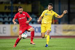 Josip Corluka  of NK Domzale and Stefan Dimic of FC Balzan during 2nd Leg Football match between NK Domzale and FC Balzan  in First Qualifying match of UEFA Europa League 2019/2020, on July 18, 2019 in Sports park Domzale, Domzale, Slovenia. Photo by Ziga Zupan / Sportida