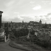 A panoramic view of Edinburgh taken Calton Hill one of Robert Louis Stevenson's favorite places.High wire walker Nik Wallenda performed a 1300 foot walk 10 stores over the Atlantic City beach on Thursday August 9th as a promotion for his family experience show at the Tropicana Resort. Here, Wallenda walks the wire shadowed by a helicopter.  ( ED HILLE / Staff Photographer).