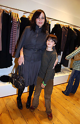 PEARL LOWE, her nephew and her son ALFIE GOFFREY at the launch party for the Comptoir des Cotonniers boutique, 235 Westbourne Grove, London W11 on 25th October 2006.<br /><br />NON EXCLUSIVE - WORLD RIGHTS