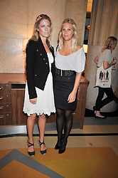 Left to right, VIOLET HENDERON and PHILLIPA HOWARD at the opeing of Green's Restaurant & Oyster Bar, 14 Cornhill, London EC3 on 1st September 2009.