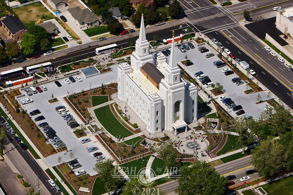 Brigham City LDS Temple during the public open house