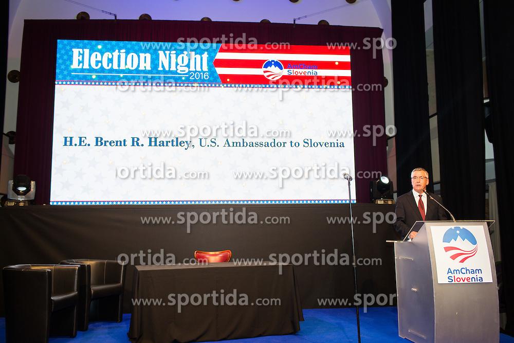 Brent R. Hartley during Election Night Party, on November 8, 2016 in Ljubljana, Slovenia. Photo by Ziga Zupan / Sportida