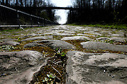 France, Valenciennes, Friday 9th April 2010: View of the pavé in section 17, Trouée d'Arenberg (2,4km). Copyright 2010 Peter Horrell