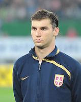 Fussball, WM Qualifikation 2010, Gruppe 7, Oesterreich - Sebien, Wien, 15.10.2008, Branislav Ivanovic (Serbien)