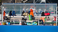UTRECHT - Dug out op het hockeyveld met veel kleding, tassen, en andere waardevolle; spullen. . COPYRIGHT KOEN SUYK