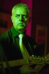 The G-MEN Soul Band at Meadow Farm.Lead Guitar - John Whyman.16 February 2013.Image © Paul David Drabble