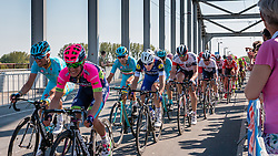 Peloton with NIBALI Vincenzo from Italy of Astana Pro Team (KAZ) at the 2nd lap (1000M) from the finish line on the John Frost Bridge 'A Bridge Too Far', stage 3 from Nijmegen to Arnhem running 190 km of the 99th Giro d'Italia (UCI WorldTour), The Netherlands, 8 May 2016. Photo by Pim Nijland / PelotonPhotos.com   All photos usage must carry mandatory copyright credit (Peloton Photos   Pim Nijland)