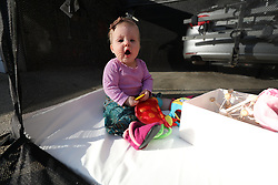 Gemma 9 months and Danielle at home, Friday, March 30, 2018  at Cedar Shake Shack in Louisville.