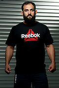 PANTEGO, TX - OCTOBER 17: Johny Hendricks trains in his new Reebok apparel on October 17, 2013 in Pantego, Texas. (Photo by Cooper Neill/Getty Images for Reebok)