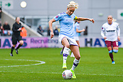 Manchester City Women defender Steph Houghton (captain) (6) in action during the FA Women's Super League match between Manchester City Women and West Ham United Women at the Sport City Academy Stadium, Manchester, United Kingdom on 17 November 2019.