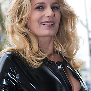 """NLD/Amsterdam/20130613 - Presentatie erotische triller """" Kamer 303 """" van Claudia Schoemacher - van Zweden, in latex catsuit"""