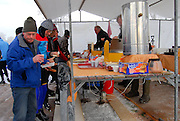 """Koek en Zopie"" is a traditional snack for skaters in the Netherlands and consists of hot chocolate and cake. Often even pea soup and hot dogs are sold to the hungry and cold skaters."