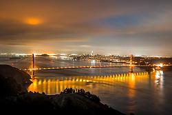 """Golden Gate Bridge Sunrise 8"" - Photograph of San Francisco and the famous Golden Gate Bridge at sunrise."