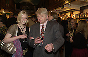 Julia Johnson and Stanley Johnson, Book party for 'The Dream of Rome' by Boris Johnson. Daunts bookshop. Marylebone High St. London.  1 February 2006. -DO NOT ARCHIVE-© Copyright Photograph by Dafydd Jones 66 Stockwell Park Rd. London SW9 0DA Tel 020 7733 0108 www.dafjones.com