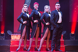 "© Licensed to London News Pictures. 17/06/2015. London, UK. L-R. Georgina Hagen, Rachel Stanley, Louise Dearman and Ray Quinn. UK premiere of ""Judy - The Songbook of Judy Garland"" - a show celebrating the classic songs of Judy Garland - opens at the New Wimbledon Theatre, London before a UK tour. The show runs from 16 to 20 June 2015. Photo credit : Bettina Strenske/LNP"