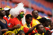 Ghana fans with a painted face