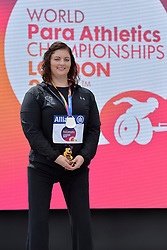 16/07/2017 : Orla Barry (IRL), F57, Women's Discus, Silver Medal, at the 2017 World Para Athletics Championships, Olympic Stadium, London, United Kingdom