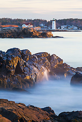 Portsmouth Harbor Lighthouse as seen from Great Island Common in New Castle, New Hampshire.