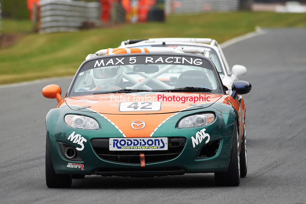 #42 Adrian BAKER Mazda MX5 Mk3 2000 during Max 5 Championship as part of the BARC NW - Championship Raceday  at Oulton Park, Little Budworth, Cheshire, United Kingdom. March 19 2016. World Copyright Peter Taylor/PSP. Copy of publication required for printed pictures.  Every used picture is fee-liable. http://archive.petertaylor-photographic.co.uk