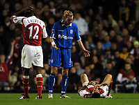 Photo: Javier Garcia/Back Page Images<br />Arsenal v Birmingham FA Barclays Premiership Highbury 04/12/04<br />Robbie Savage accuses Jose Antonio Reyes of going down too easily after Matthew Upson shoulder charged the spaniard to earn himself a yellow card