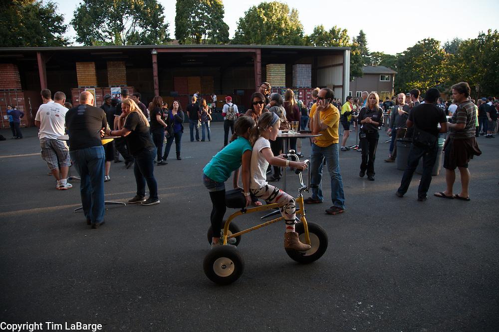 Hopworks Urban Brewery in Portland, Oregon. Image by Tim LaBarge